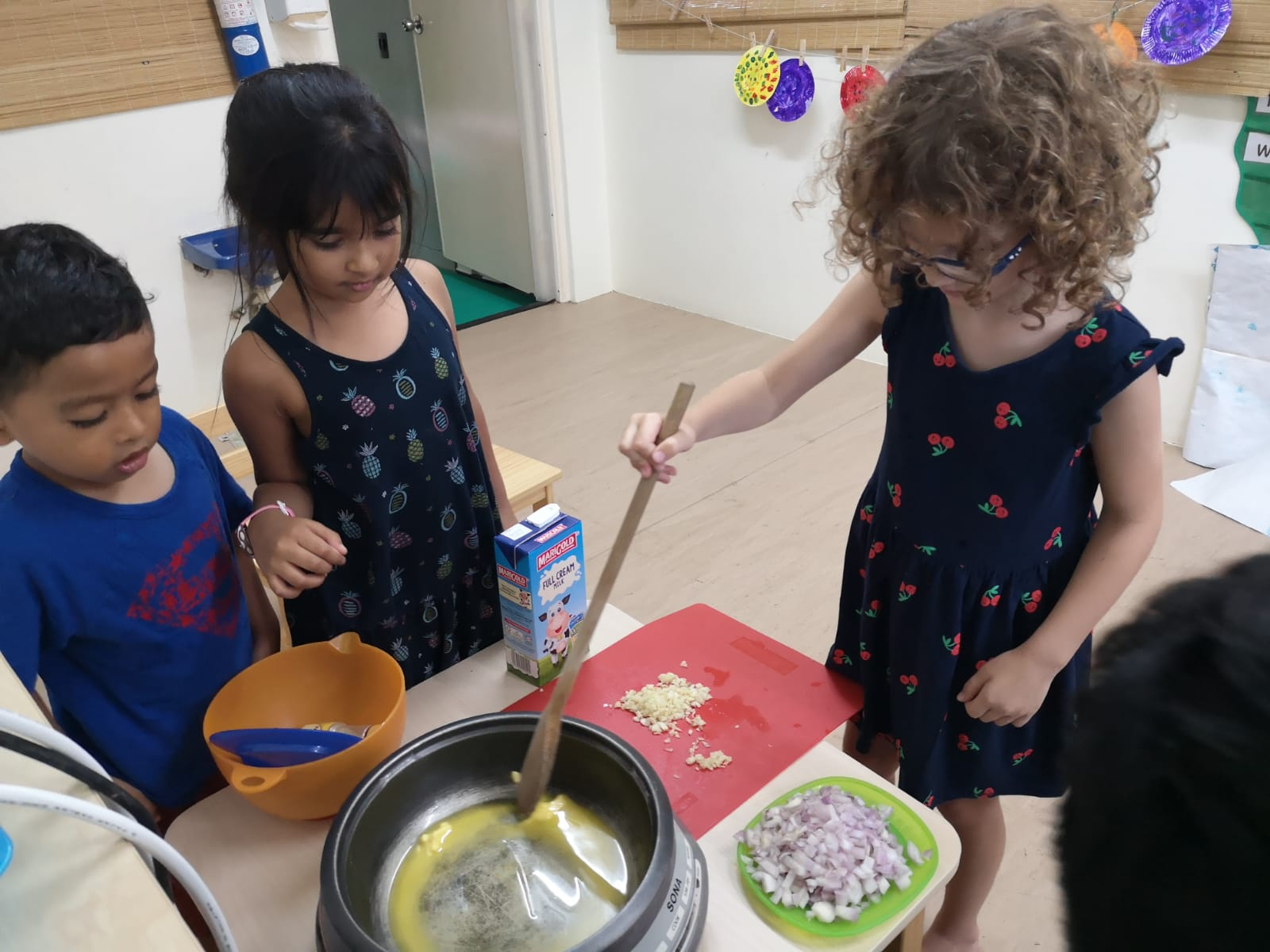 cooking our own food shaws preschool