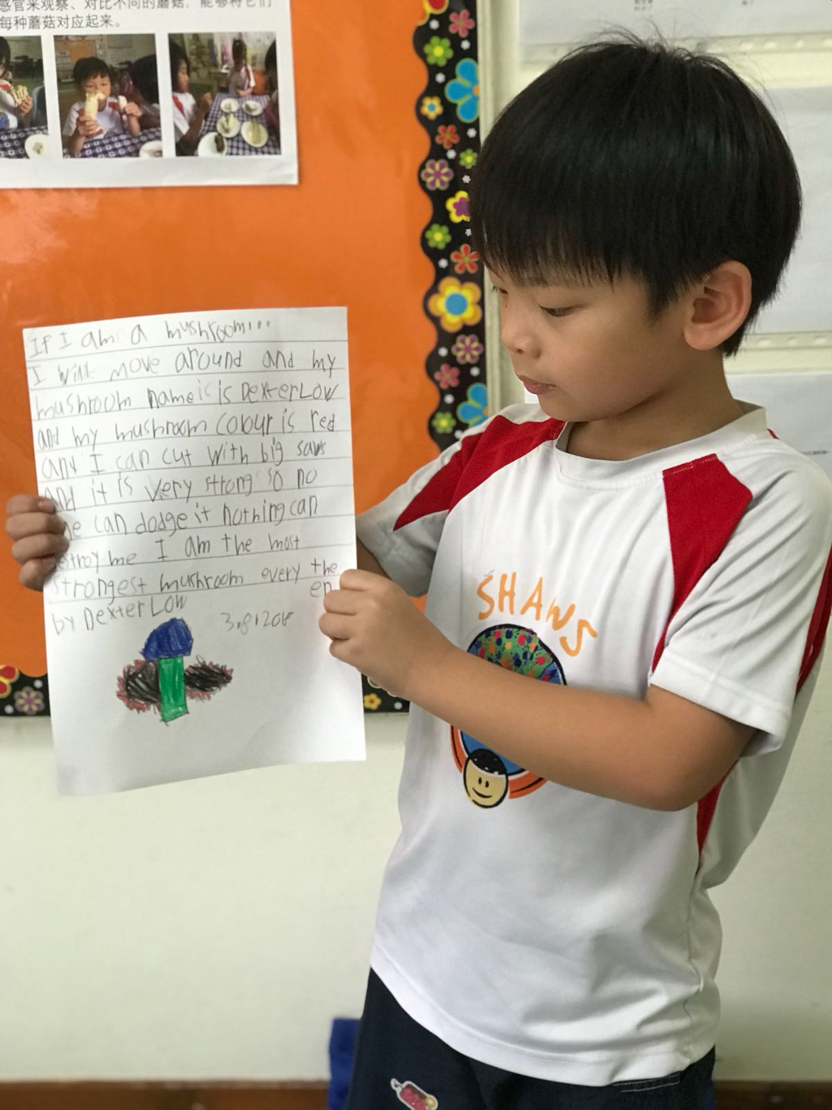 child reading and writing shaws preschool