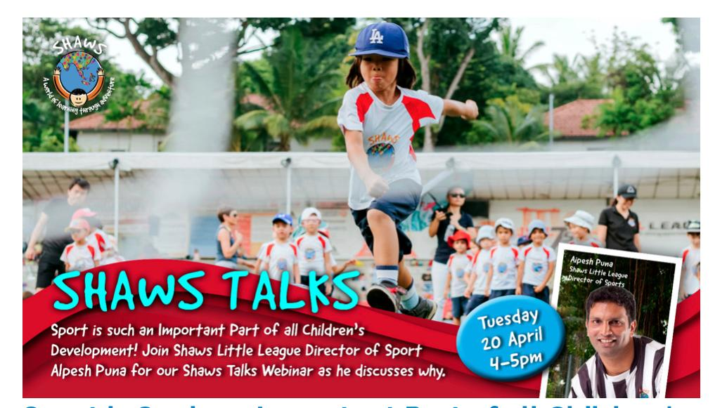 Shaws Talks – Ask the Experts Series – SPORT!